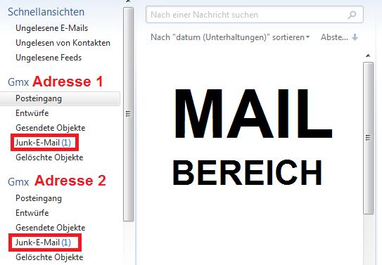 WICHTIGES IST ROT MAKIERT - (Windows 7, Windows, E-Mail)