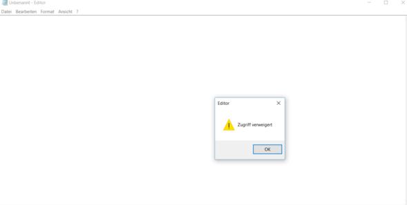 Unbenannt - Editor - (Win10 Start, Editor fenster, öffnet sich)