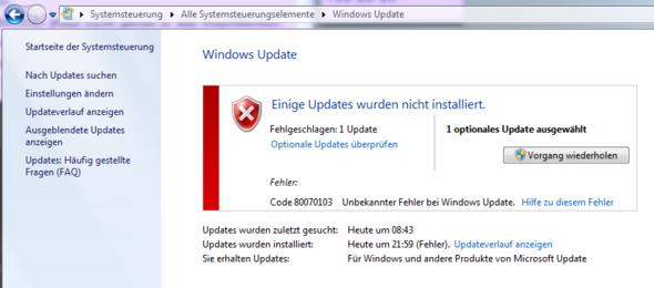 Update - (PC, Windows 7, update)