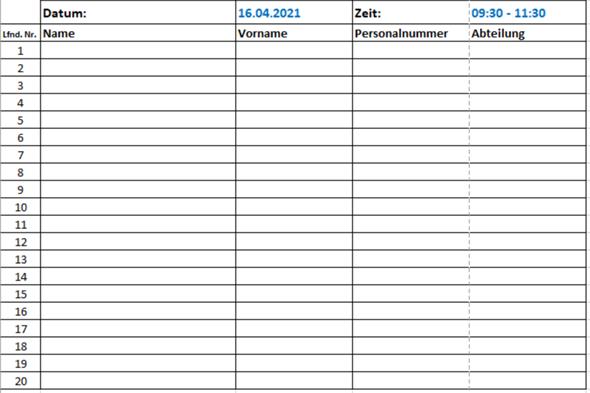 Excel Tabelle automatisch mit QR Codes füllen möglich?