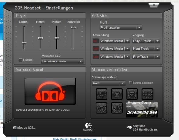 Logitech G35 Treiber Programm! - (Hardware, software, Logitech)