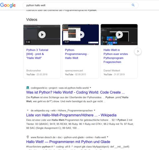 Google.de Ansicht der Suchergebnisse verändert?