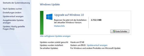 Upgrademeldung Win10 - (Windows 10, Upgrade Win 10)
