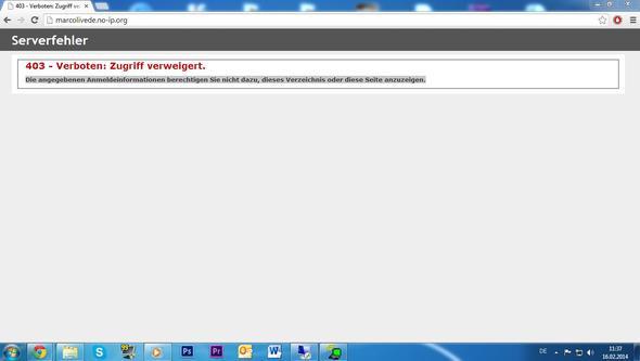 Fehlermeldung - (Server, HTTP)