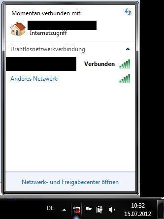 Das Sombol mit dem X wird angezeigt obwohl ich eine Verbindung habe - (Internet, Windows 7, WLAN)