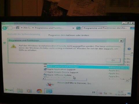 Fehlermeldung vom Windows-installer - (Computer, Windows 7, Grafikkarte)
