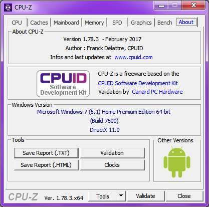 About - (Hardware, CPU, Mainboard)