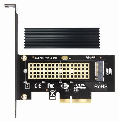 M.2 Festplatte mit Adapter auf PCIe Slot?