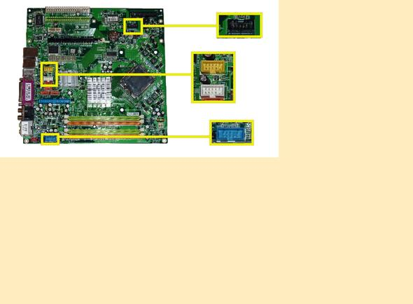 mainboard medion pc ms 7091 anschlüsse farbcodes