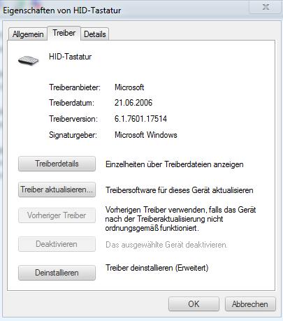 Tastatur treiber info - (Computer, Windows, Treiber)
