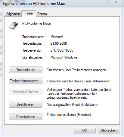 Maus treiber info - (Computer, Windows, Treiber)