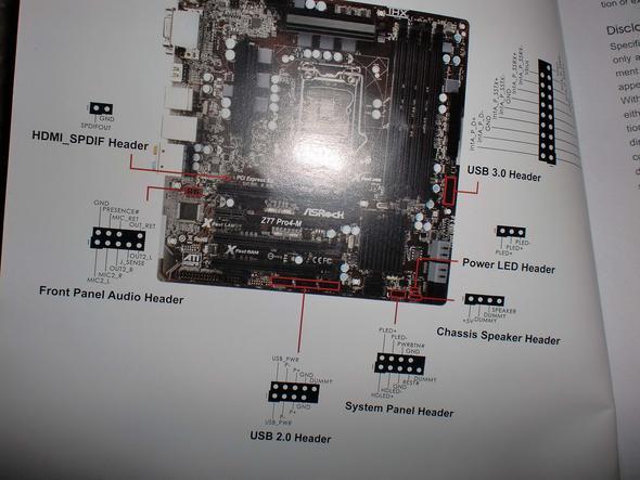 Mainboard mit Bild - (Computer, PC, Hardware)