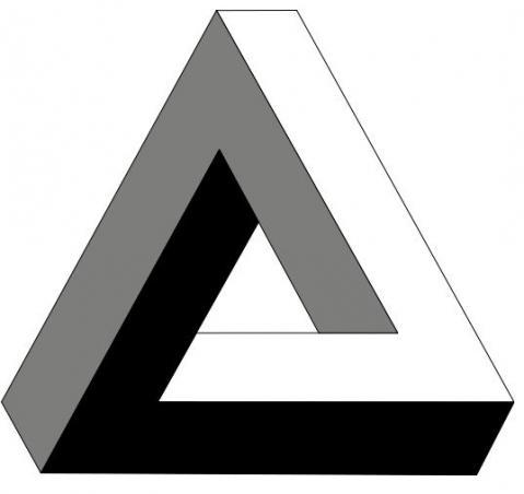 Penrose Dreieck - (Grafik, bildbearbeitung, Photoshop)