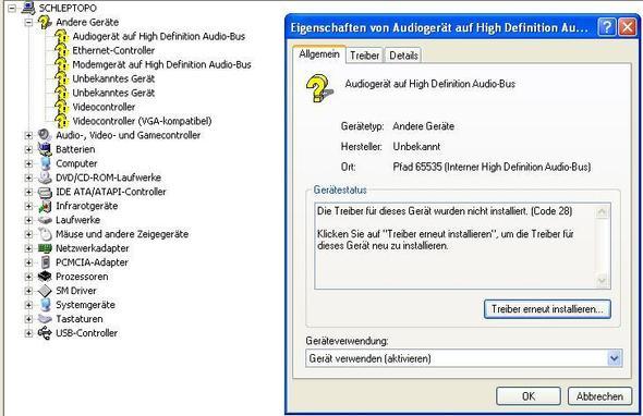 gerätemanager - (software, Treiber, Soundkarte)