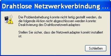 Netzwerkadapter nicht deaktivierbar - (Netzwerk, Reparatur, Deaktivieren)