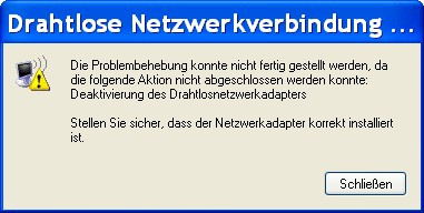 Netzwerk lässt sich nicht deaktivieren