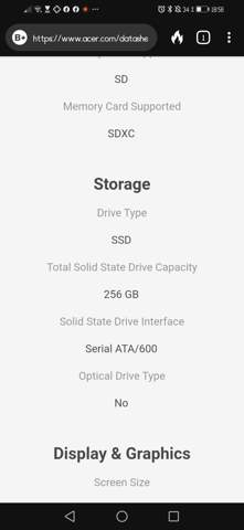 Neue SSD für Acer Spin 5. Worauf muss ich achten?