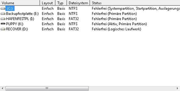 Platten haben verschiedene Dateisysteme - (Fehler Paragon, Archivwiederherstellung unmöglich)