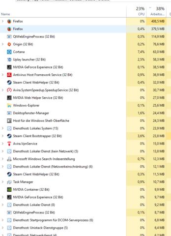 Einmal geordnet nach RAM - (Hardware, Games, CPU)