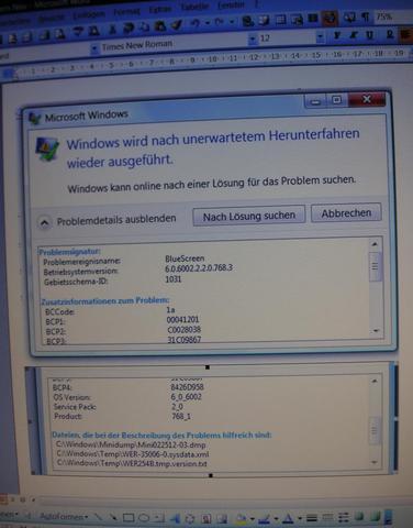 PC fährt automatisch runter bei Befehl Druck einer PDF-Datei
