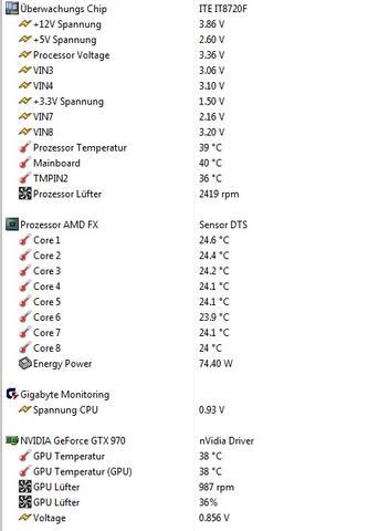 Temp ohne Spiel - (PC, Grafikkarte, CPU)