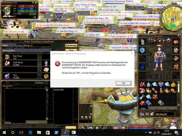 PC-Spiel stürzt mittendrin ab. Fehlermeldung?