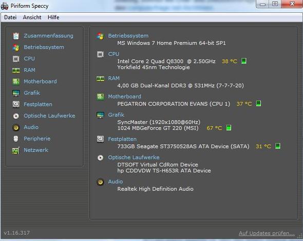 Meine Systeminfos - (Computer, absturz, gpu)