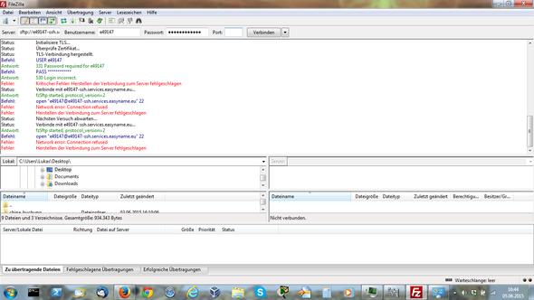 Gesicherte Verbindung - (FTP, Filezilla, SMTP)