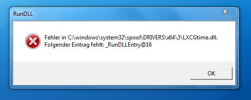 Problen : RunDLL Fehlermeldung wenn ich PC/Leptop Starte (Samsung Windows 7)