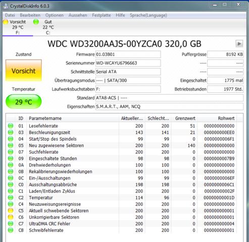 Testergebnis Festplatte - (Hardware, Windows 7, Festplatte)