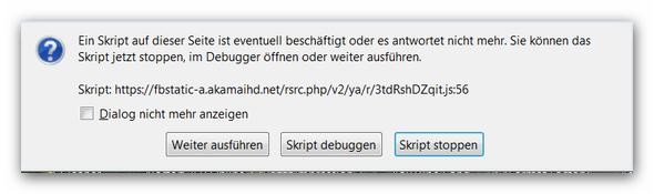 Fehlermeldung - (Firefox, Skriptfehler)