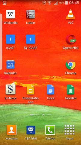 Smartphone - Was ist das für ein transparenter Balken links am Bildschirmrand plötzlich?