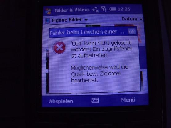 - (PalmTreo Löschproblem, Video kaum löschbar)