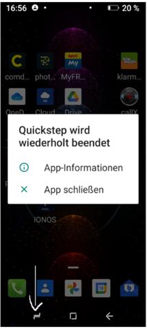 Smartphone, plötzlich eine Funktion geändert?
