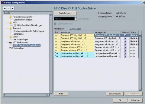 Geräte Konfigurieren in Cubase - (Computer, software, Windows 7)