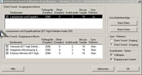 Optionen für die Sound verteilung - (Computer, software, Windows 7)