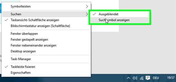 Nur um zu zeigen wie das bei mir aussieht^^ - (Windows, Windows 10, Suche)