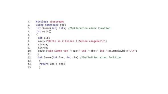 Versteh ich explizite Deklarationen in C++ richtig?