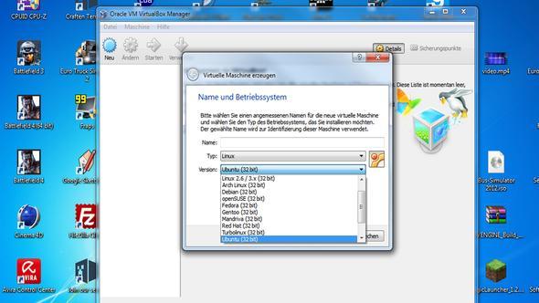 Systemsteuerung - (Hardware, Virtualbox)