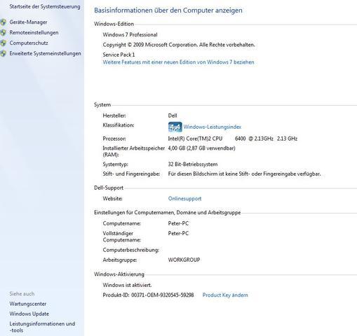 Systemmeldung zu RAM - (RAM, Arbeitsspeicher)