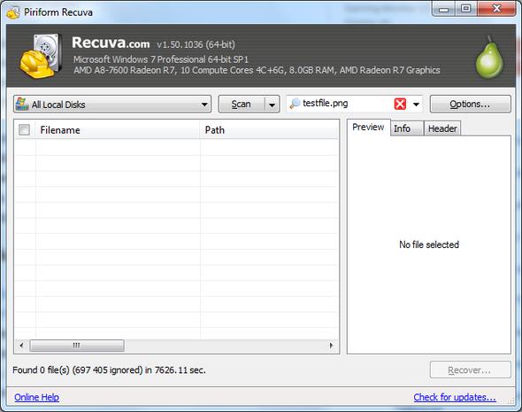Recuva - (HDD, Datenrettung, Recuva)