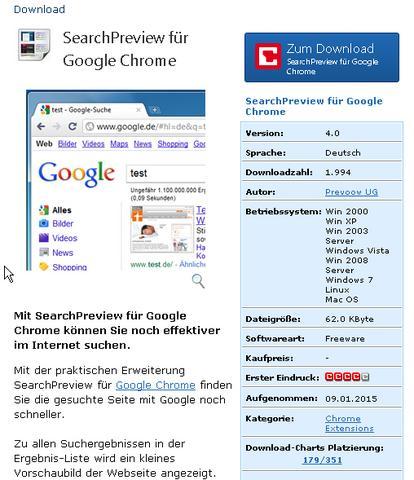 Warum werden bei der Google-Suche in Google-Chrome keine Vorschaubilder angezeigt?