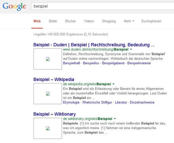 Aussehen der Google-Suche in Chrome - (Internet, Firefox, Browser)