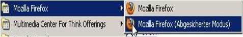 Firefox (abgesicherter Modus) - (Firefox, Mozilla Firefox, modus)
