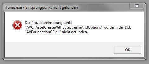 iTunes Fehlermeldung - (Fehlermeldung, Itunes, nicht gefunden)