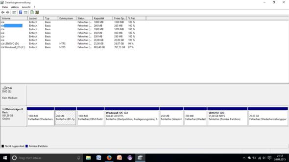 Datenträgerverwaltung - (SSD, Partition, Umstieg)