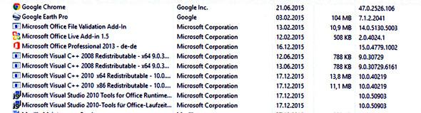 Installierte Programme - (MS-Programme deinstallieren, Welche MS deinstallieren)