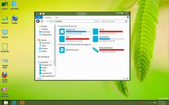 Die Ansicht die Ich jetzt habe. - (Windows 8, ändern, Ansicht)
