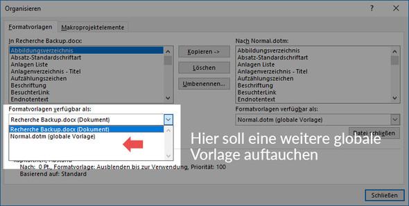 Globale Vorlage - (Microsoft, Office, word)