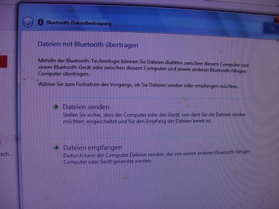 Bluetooth-2 - (Bluetooth-Problem, Bluetoothübertragung von Fotos)